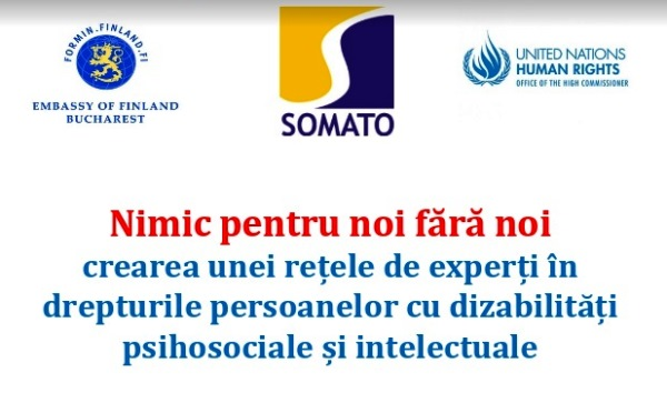 """SOMATO"" Association will create a network of experts in the rights of persons with psychosocial disabilities"
